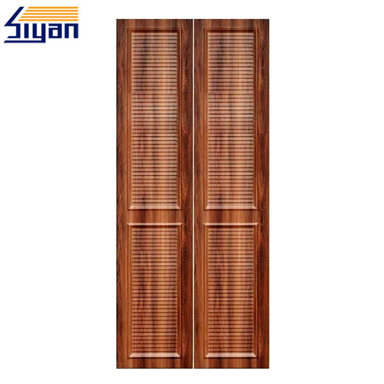 High Density MDF Louvered Closet Doors Wood Grain With 860 Kgs/M³ Density
