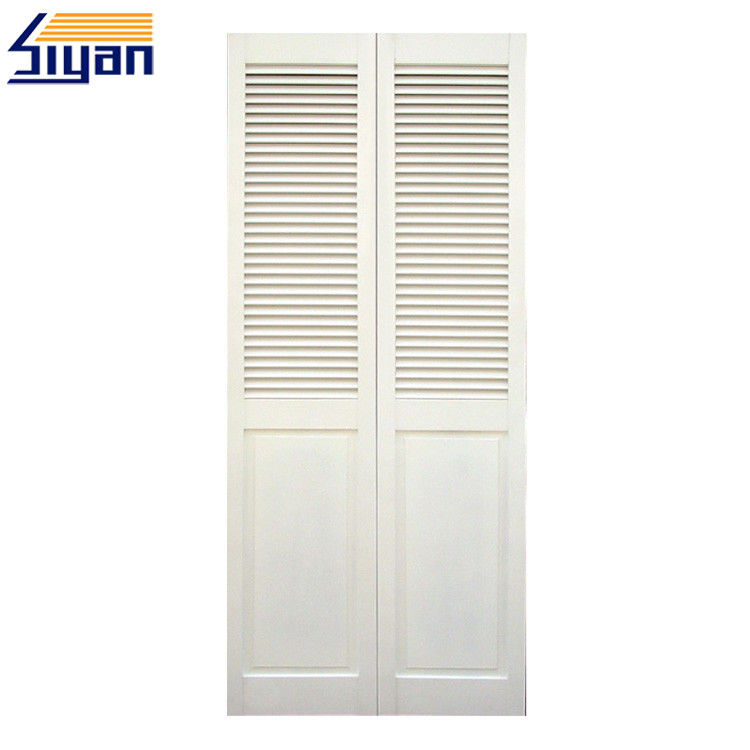 Surface Finished Louvered Bifold Closet Doors , Louvered Interior Doors For Cabinets