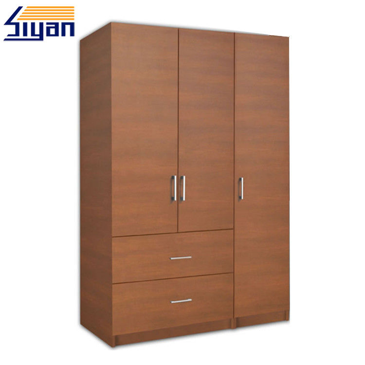 Bedroom Furniture 3 Wood Closet Doors 2 Dawers Environmental Friendly