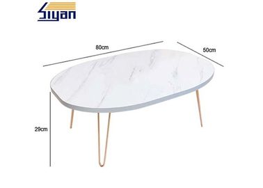 White Adjustable Adjustable Table Top 500mm Width Intalled With Legs
